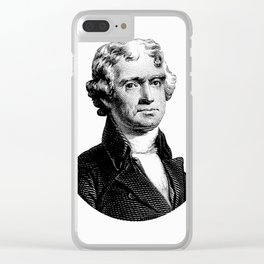President Thomas Jefferson Clear iPhone Case