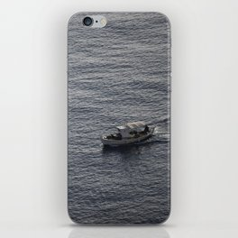 Sea and a boat iPhone Skin