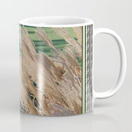 MISCANTHUS SINENSIS YAKU JIMA SEEDHEADS AND GREEN LAWN SHADOWS  Coffee Mug