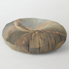 George Stubbs - The Kongouro from New Holland Floor Pillow
