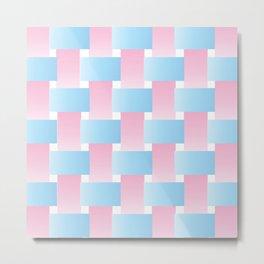 Pastel Lattice Background Metal Print