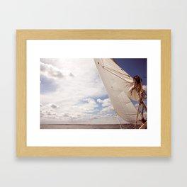 Lean Into It Framed Art Print