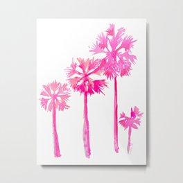Tropical Pink Palms Metal Print