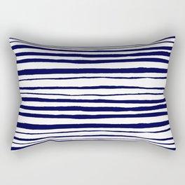 Blue- White- Stripe - Stripes - Marine - Maritime - Navy - Sea - Beach - Summer - Sailor 3 Rectangular Pillow