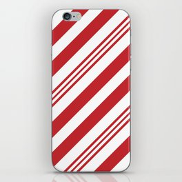 Red Candy Cane Stripes iPhone Skin