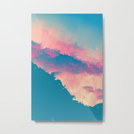 Glitched Landscapes Collection #6 Metal Print