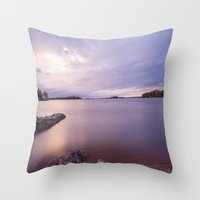 sweden Throw Pillows featuring Kvicksund, Sweden by Robin Oijer Photography