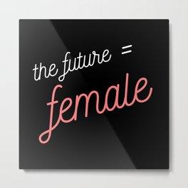 the future = female Metal Print