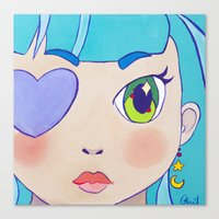 magical girl Canvas Prints featuring Magical Girl by Chanael Burat