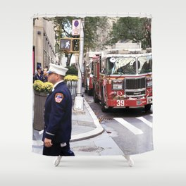 The Fire Dept of New York at 30 Rock Shower Curtain