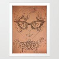 Weird Lady Art Print
