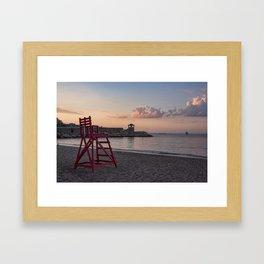 Front Beach After Hours Framed Art Print