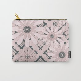 Pink floral plaid Carry-All Pouch