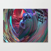 surf Canvas Prints featuring Surf by Choerte