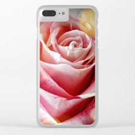 Delicate Rose Clear iPhone Case