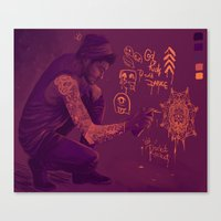 zayn Canvas Prints featuring Zayn by RockitRocket