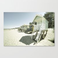 bleach Canvas Prints featuring Bleach Huts  by Rob Hawkins Photography