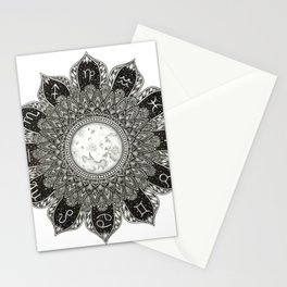 Astrology Signs Mandala Stationery Cards
