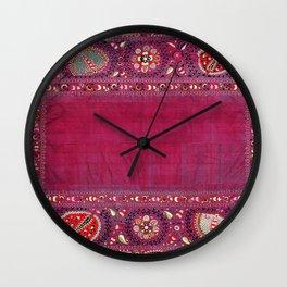 Shakhrisyabz  Southwest Uzbekistan Suzani Embroidery Print Wall Clock