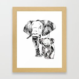 Tuskany's Day Out With Dad Framed Art Print
