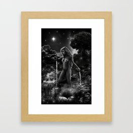 XVII. The Star Tarot Card Illustration Framed Art Print