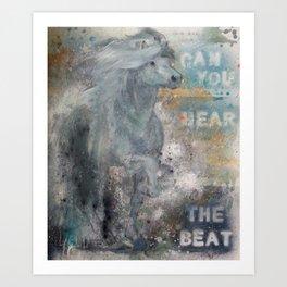 Icelandic horse 1 Art Print