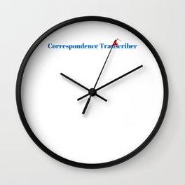 Correspondence Transcriber Ninja in Action Wall Clock