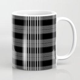 Black & Gray Plaid Print Coffee Mug