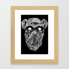 Bearded Ape r2 Framed Art Print