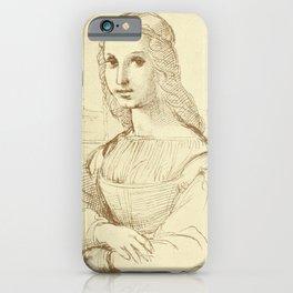 Portrait of a woman - Leonardo Da Vinci iPhone Case