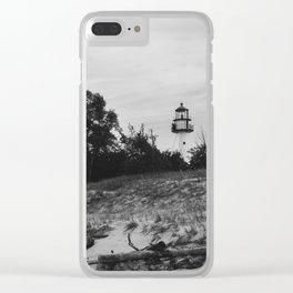 WhiteFish Point Light Station Clear iPhone Case