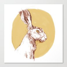 Yellow Hare Canvas Print