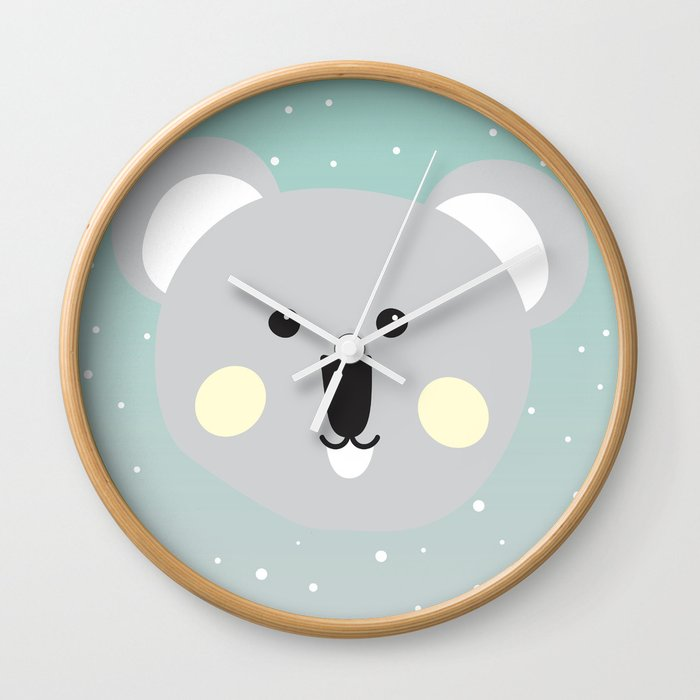 Cute Drop Bear Wall Clock by spoondig
