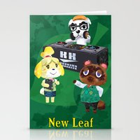 animal crossing Stationery Cards featuring Animal Crossing: New Leaf by Salzburn Designs Shop