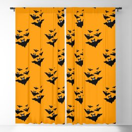 Cool cute Black Flying bats Halloween Blackout Curtain