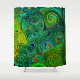 FREE ABSTRACT FACE SHILOUETTE Shower Curtain