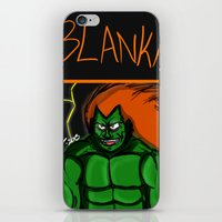 street fighter iPhone & iPod Skins featuring Street Fighter: Blanka by LaDarius Livingston