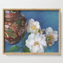 Still Life of Magnolias Serving Tray