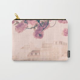 Paris cherry blossoms and facades bokeh Carry-All Pouch