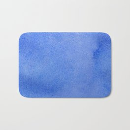 Azure watercolor Bath Mat