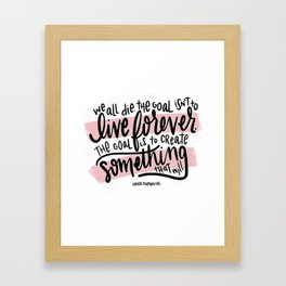 Chuck Palahniuk Quote - Pink Framed Art Print