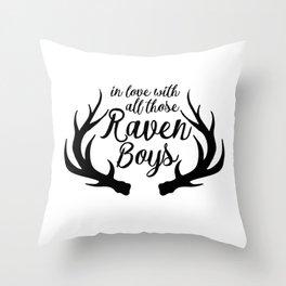 Love Those Raven Boys Throw Pillow
