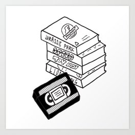 VHS Tapes Art Print
