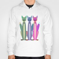 foxes Hoodies featuring Foxes by TypicalArtGuy