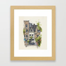 Residential house along Amsterdam canals Framed Art Print