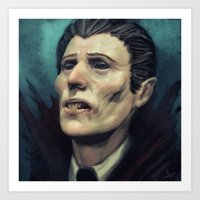 dracula Art Prints featuring Dracula by Jorge Jaramillo