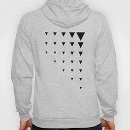 Black Triangles on Grey-Green Hoody