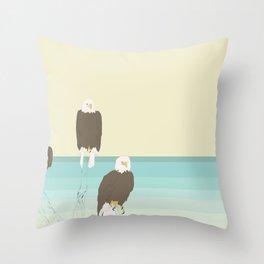 Bald Eagles Throw Pillow
