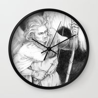 "archer Wall Clocks featuring Archer by Barbara ""Yuhime"" Wyrowińska"