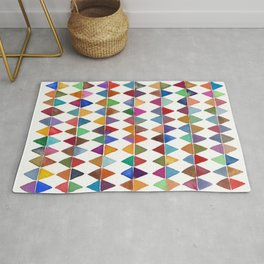 Colorful Watercolor Triangles Pattern Rug